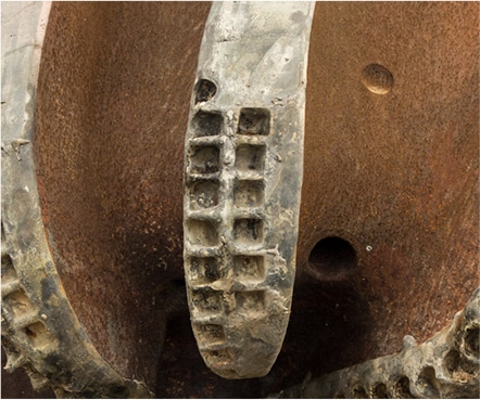 Damaged PDC bit
